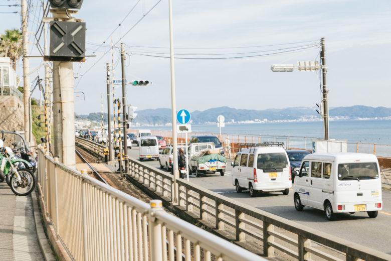 江ノ島の道路