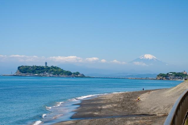 江の島・富士山の風景画像