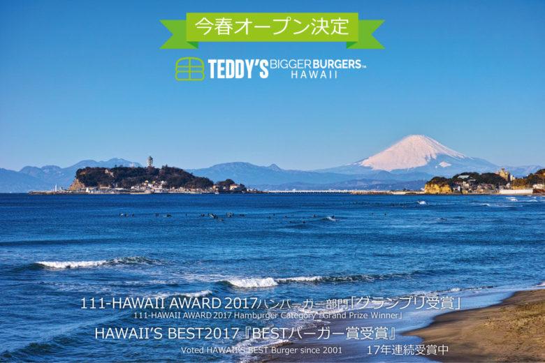 ハワイNo.1の「テディーズビガーバーガー」が湘南鎌倉に初上陸!