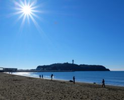 片瀬海岸から見た江ノ島