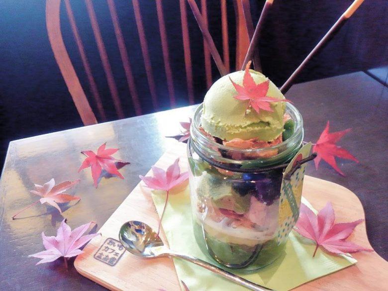抹茶と紫芋のジャーパフェ