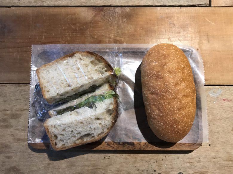 ミルクパンとサンドイッチ