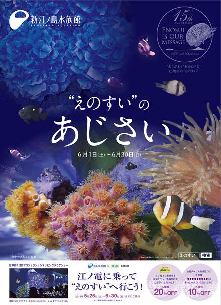 """江ノ電に乗って""""えのすい""""へ行くと、入場料金が20%オフに! 5/25-6/30"""
