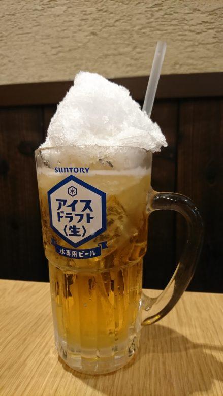 現物のかき氷生ビール