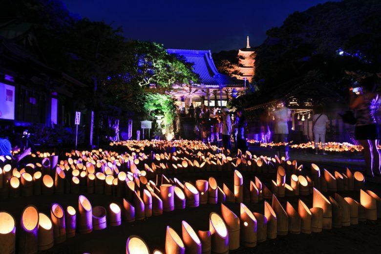 龍口寺にて、第9回龍の口竹灯籠が8月3,4日(土日)に開催