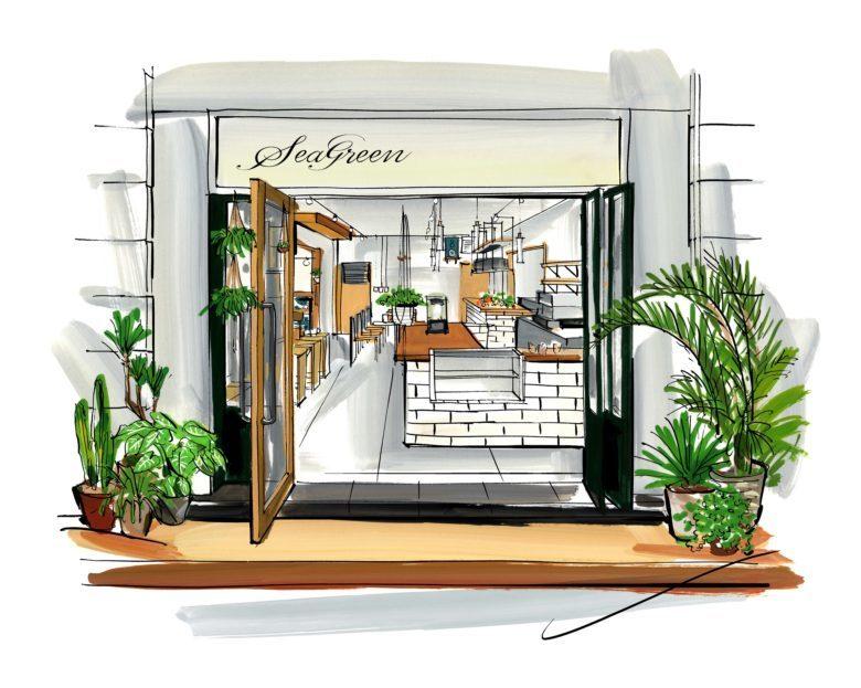 ファッションブランド「Seagreen」のコンセプトカフェが8月17日鎌倉にオープン