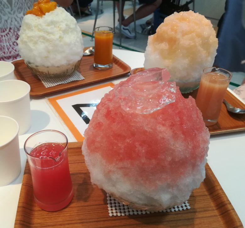 三種類のかき氷