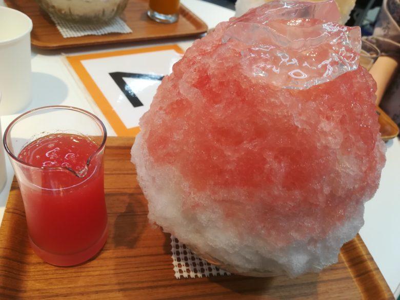 西瓜のかき氷