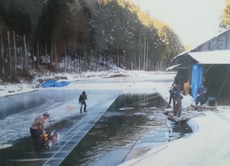 採氷現場の写真