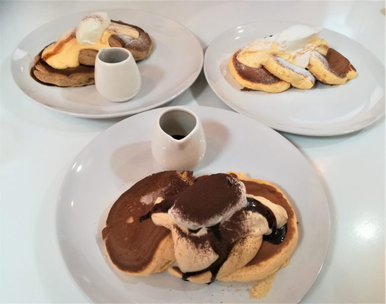 3種類のパンケーキ