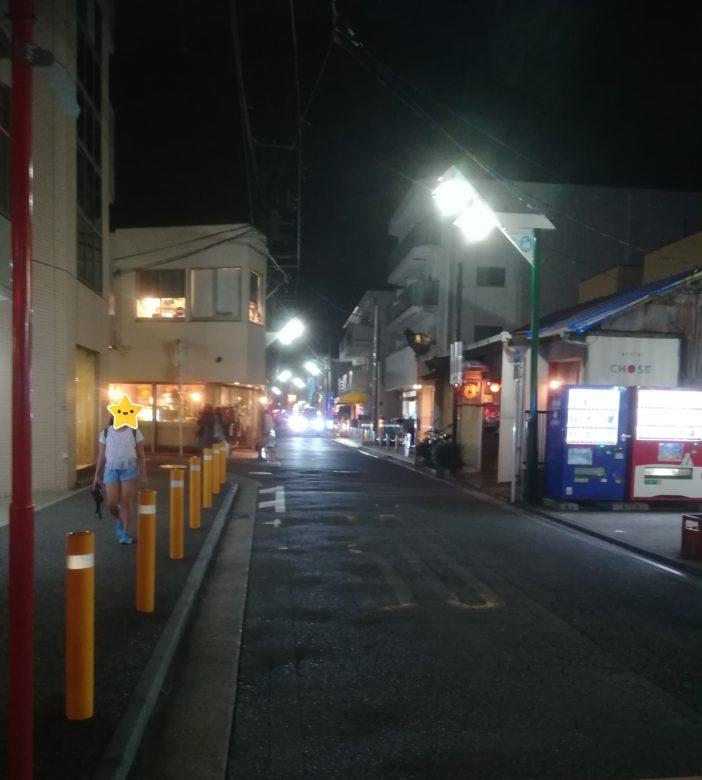 駅からの道