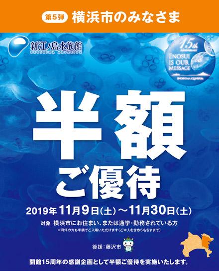 えのすい「横浜市の方のみ半額キャンペーン」が11月9日より実施